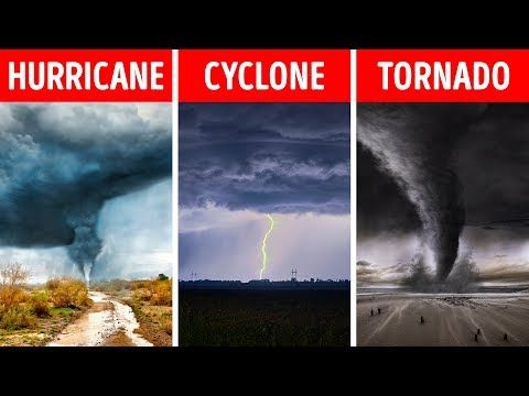 Hurricane Tornado Cyclone What S The Difference Youtube Tornado Hurricane Cyclone