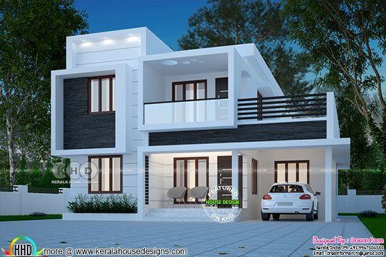 1873 Square Feet Box Model House Design Kerala House Design
