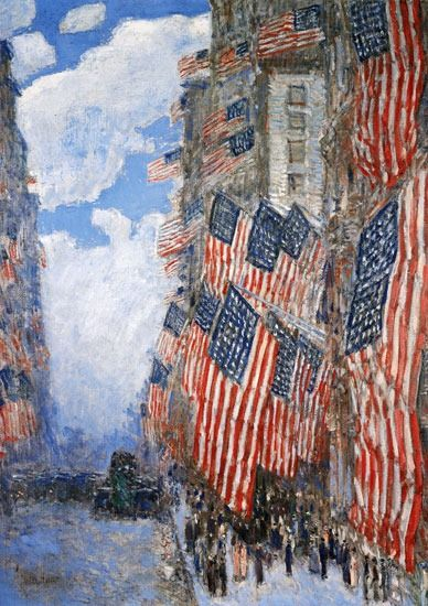 Childe Hassam (1859-1935)~Fourth of July(1916)