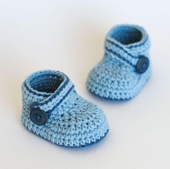 Crochet Baby Booties Tutorial : Crochet Baby Booties - Tutorial 4U hilariafina http://www ...