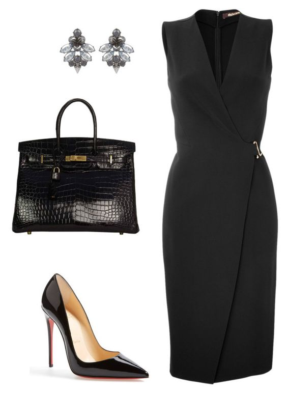 style theory by Helia by heliaamado on Polyvore featuring polyvore fashion style Roberto Cavalli Christian Louboutin Hermès Mawi clothing: