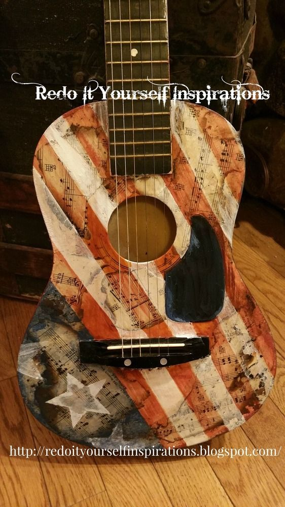 Guitar Decoupage and Upcycling on Pinterest