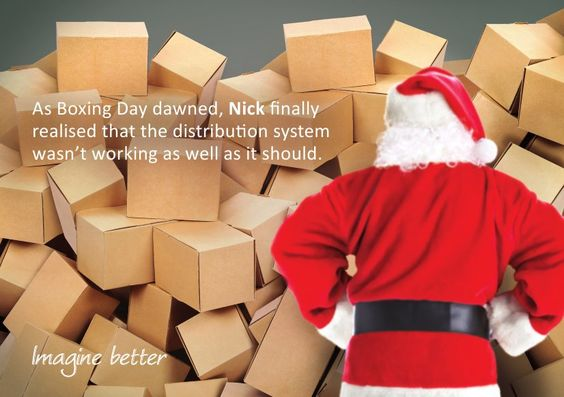 As Boxing Day dawned, Nick finally realised that his distribution system wasn't working as well as it should