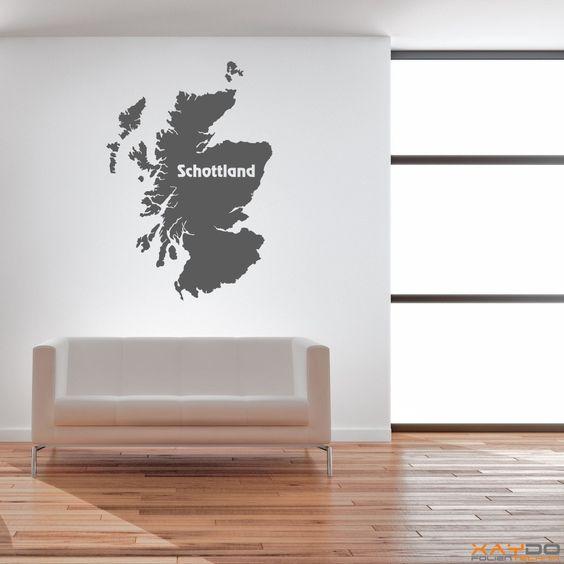 "Wandtattoo ""Schottland"" - ab 9,95 €   Xaydo Folientechnik"