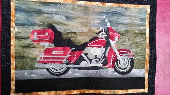 Red Motorcycle quilt