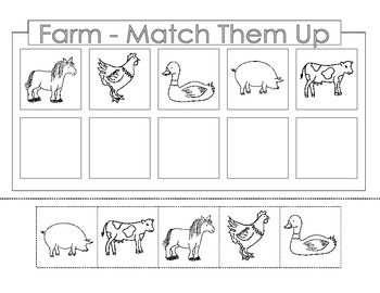 FREE........Farm Theme. There are 4 worksheets. Each page is a cut ...