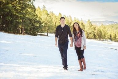 Sweet wintertime engagement photos. | From the Hip Photo | #colorado #engagement #engaged