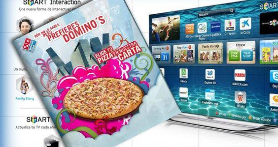 Pidiendo pizzas a través de la tele