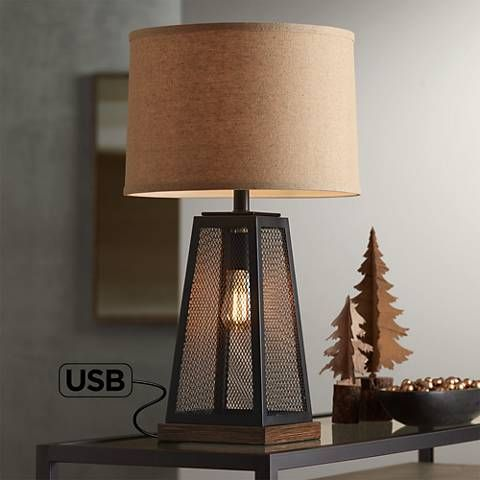 Barris Metal Usb Table Lamp With Led Night Light 46c76 Lamps