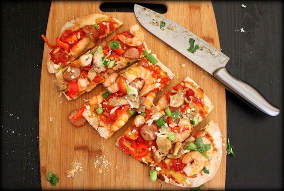 Paella Flatbread Pizza