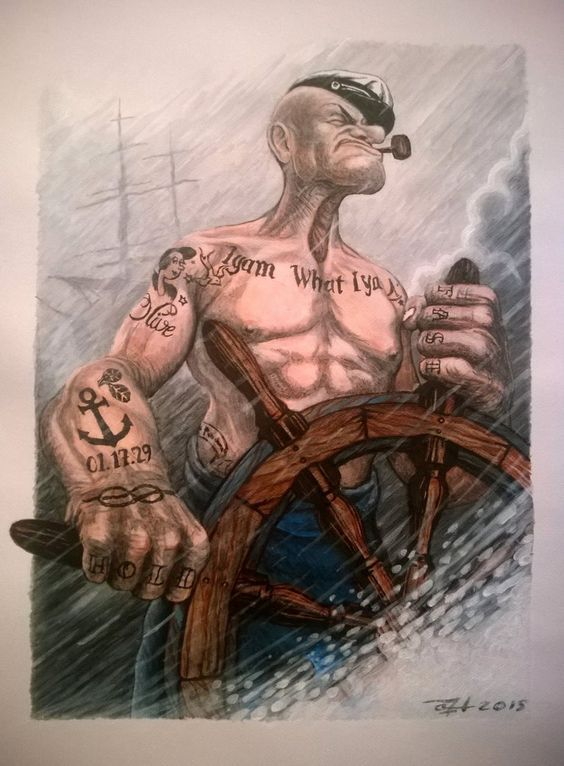 I Am What I Am Tattoo : tattoo, Popeye, Tattoo, Ideas