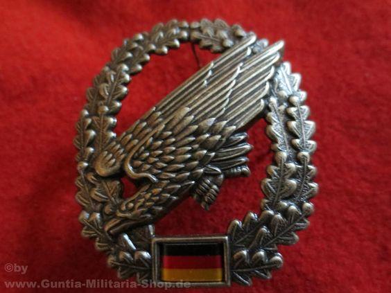 BW Barettabzeichen, Fallschirmjäger, Metall / mehr Infos auf: www.Guntia-Militaria-Shop.de