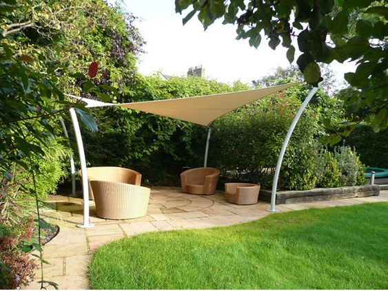 Shade Sails Garden Sail And Shades On Pinterest