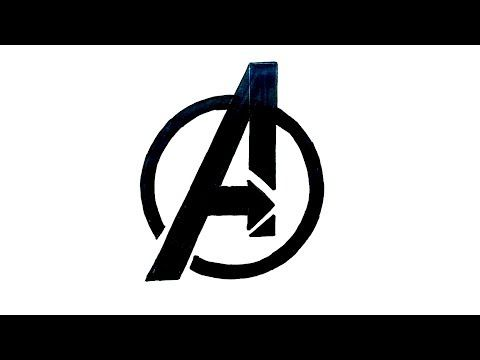 How To Draw The Avengers Logo Avengers Symbols Avengers Logo Marvel Logo