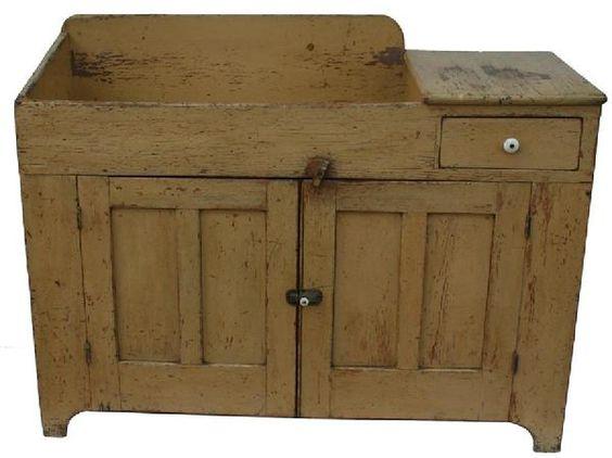 Dry Sink Primitive Furniture, Country Primitive Furniture Pennsylvania