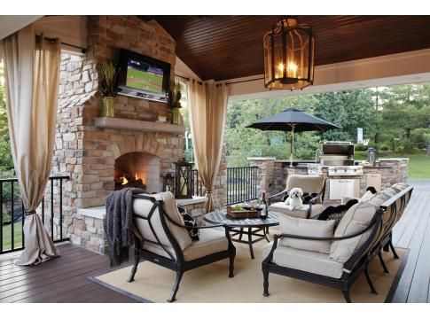 Patio Covered Patios And Fireplaces On Pinterest