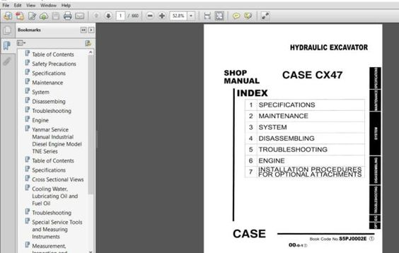 Case Cx47 Hydraulic Excavator Service Manual 6 49220 Pdf Download Hydraulic Excavator Excavator Hydraulic