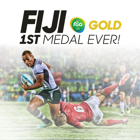 NBC Olympics ‏@NBCOlympics  1d1 day ago RT to congratulate FIJI on winning their FIRST MEDAL EVER! #Rugby #FIJ