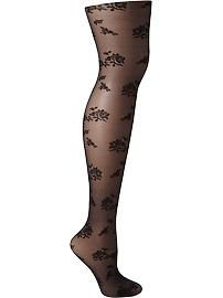Women's Floral-Lace Tights