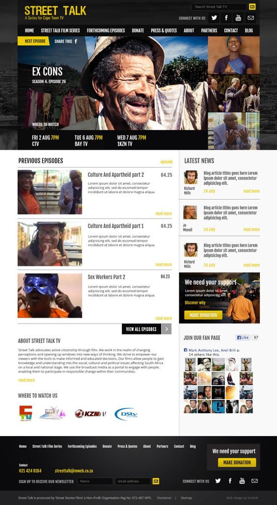 Street Talk TV by Yorkhill Creative on Behance | #UI #web #design