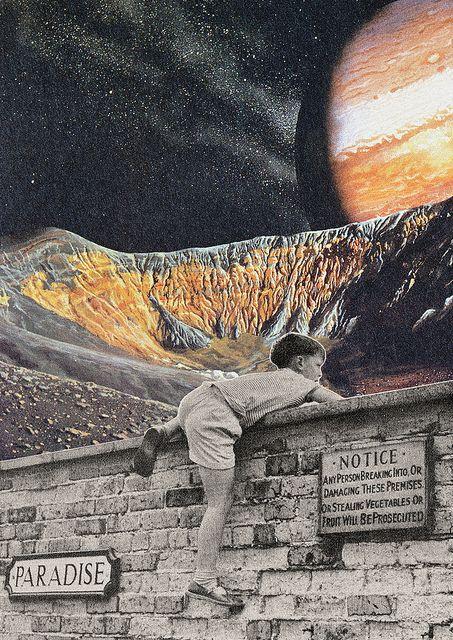 Collage al Infinito by Trasvorder aka Mariano Peccinetti - Entrar En El Sueño, 2013 Collages: Cut + Paste