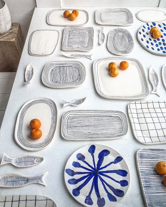 blue and white forever  [ obsessed with everything by Hudson based artist & ceramicist @paula_greif - one of each please! ] #blueandwhiteforever: