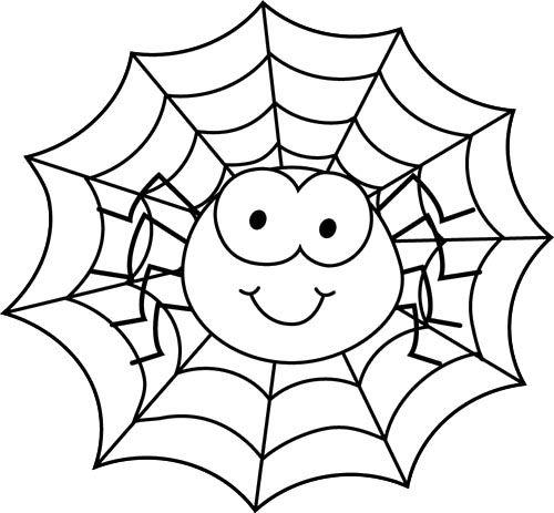 Spider In Spider Web Coloring Page PLANTILLES VARIADES