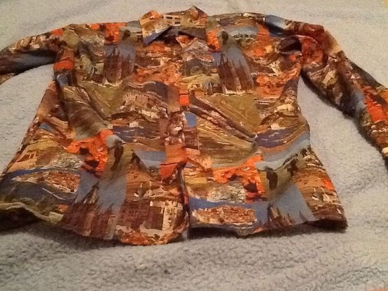VIntage Trafalgar Multi Countries &People Sz Large