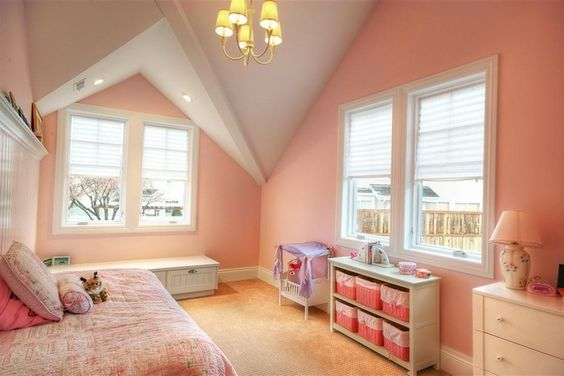 Pink paint color. From 1 of 38 projects by Renovation Design Group.