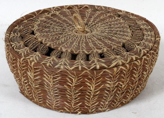 "Lot:AMERICAN INDIAN COVERED BASKET, H 3"", DIA 9"", Lot Number:42155, Starting Bid:$225, Auctioneer:DuMouchelles, Auction:AMERICAN INDIAN COVERED BASKET, H 3"", DIA 9"", Date:07:00 AM PT - Apr 21st, 2013"