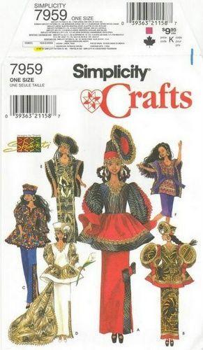Free Copy of Pattern - Simplicity 7959 - Barbie Patterns ...