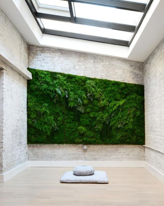 No better way to kickstart your morning than in this gorgeous meditation studio where you can close your eyes and breathe in the fresh air from that living plant wall and momentarily forget all your (existent or nonexistent) problemz. #breatheinbreatheout // New tour of @mndflmeditation up on the #HomepolishMag! [LINK IN PROFILE] Design by @shell_sparks of #HomepolishNYC  photo by @claireesparros. by homepolish on Instagram