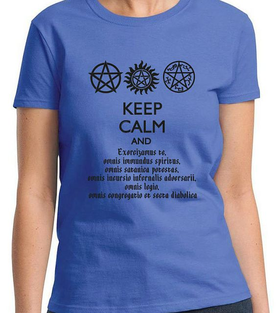 SUPERNATURAL KEEP CALM And Speak Latin by CharmingFanDesigns