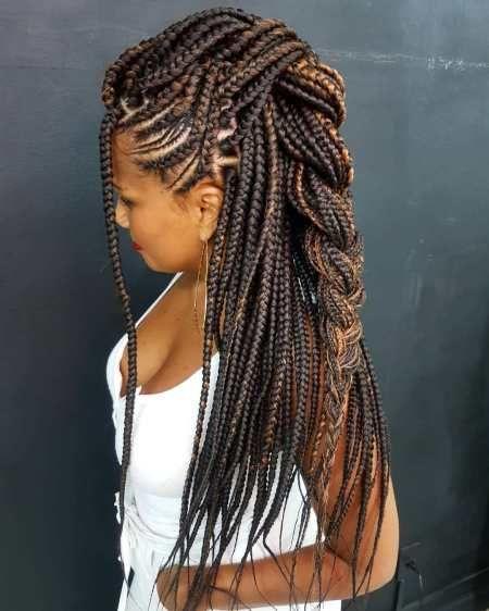30 Best Cornrow Braids And Trendy Cornrow Hairstyles For 2020 Hadviser In 2020 Box Braids Hairstyles For Black Women Natural Hair Braids Braided Hairstyles