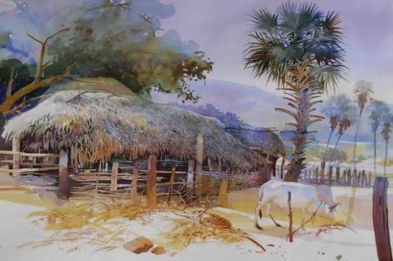 Incredible Watercolor Paintings By Indian Artist Bijay Biswaal Scenery Paintings Watercolor Landscape Watercolor Paintings