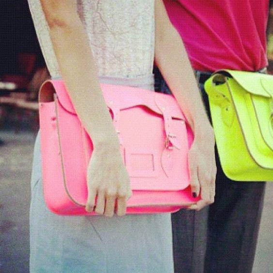 Bolsos cuero fluor por fashionpassionn.
