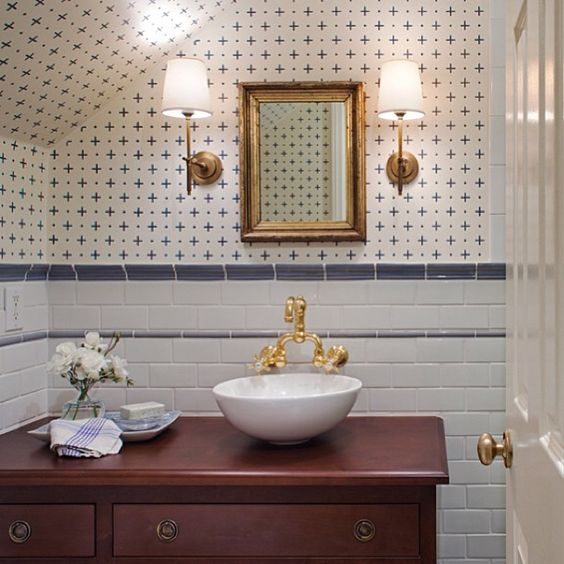 Classic bathroom design by Amy Meier Design. Jo Malone London Body & Hand Wash (In case you need it!)