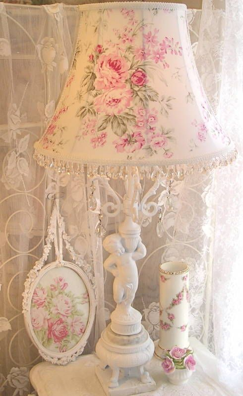 Oh how girlie and beautiful this is! Shabby chic pastels and old rose fabric