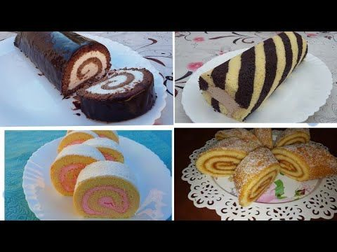 اربع وصفات كيك رولي حصرية 2020 الوصفة الرابعة نالت مليوني و نصف مشاهدة Youtube Cake Recipes Chocolate Biscuits Food