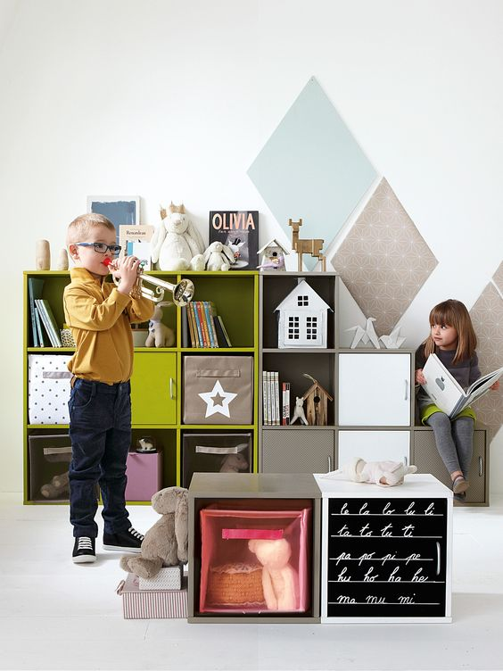 Meuble de rangement 9 cases cases for Catalogue vertbaudet meuble