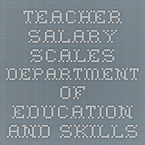 Teacher Salary scales -  Department of Education and Skills