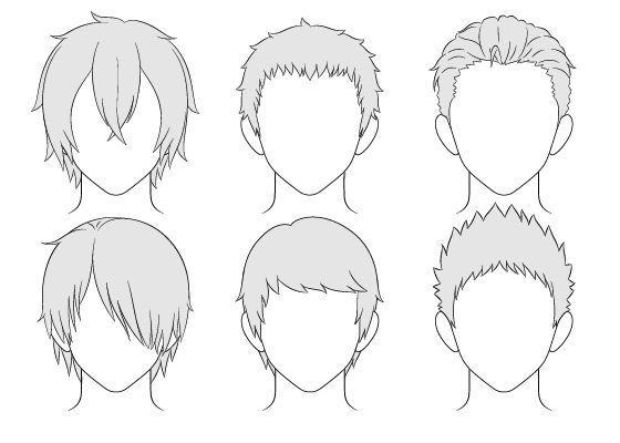 Male Hairstyles Drawing Hair Reference Long Manga Hair Boy Hair Drawing Anime Boy Hair