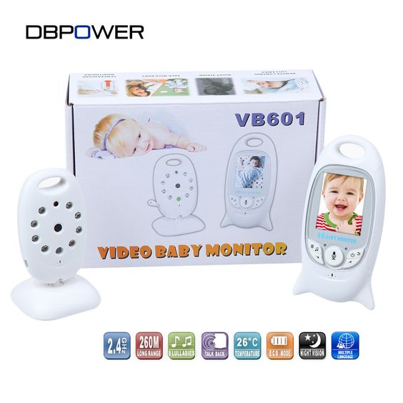 2.0 inch Color Video Baby Monitor 2 Way Talk Wireless Night Vision IR LED Temperature Baba Electronica Com Camera 8 Lullabies