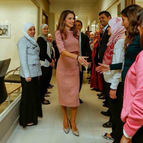 Queen Rania wearing Roksanda Ilincic: