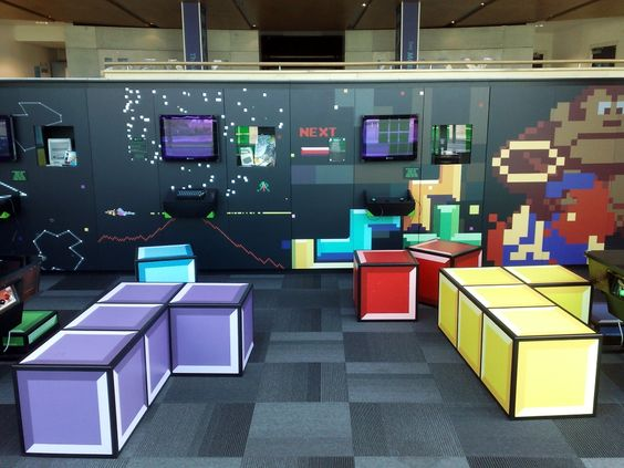 Wall Decor Set Up : Games lounge national media museum in bradford tetris