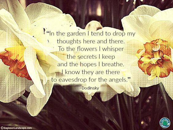 Flowering Wisdom | Gardening Quotes : http://eaglesonlandscape.com/flowering-wisdom-gardening-quotes-36/