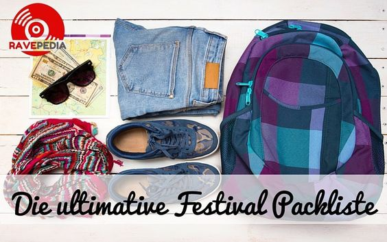 Die ultimative Festival Packliste #festival #festivalpackliste #camping #rave #tomorrowland #natureone #ikarus #utopiaisland #coachella #edm