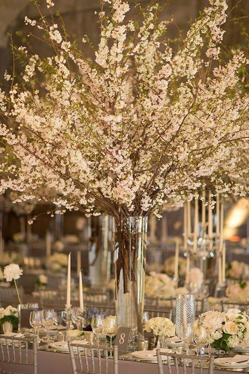 Foresighted Commended Wedding Centerpiece Need More Cherry Blossom Centerpiece Tall Wedding Centerpieces Cherry Blossom Wedding Centerpieces