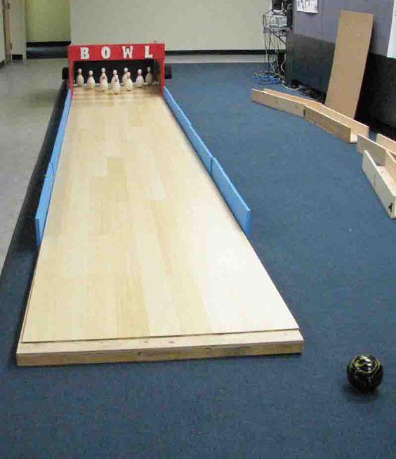 diy bowling alley north american bowling homemade bowling lanes
