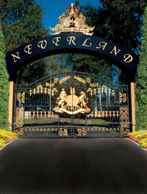 The Neverland mansion of Michael Jackson